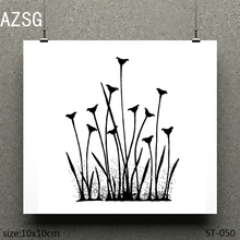 AZSG Trumpet grass Clear Stamps/seal for DIY Scrapbooking/Card Making/Photo Album Decoration Supplies