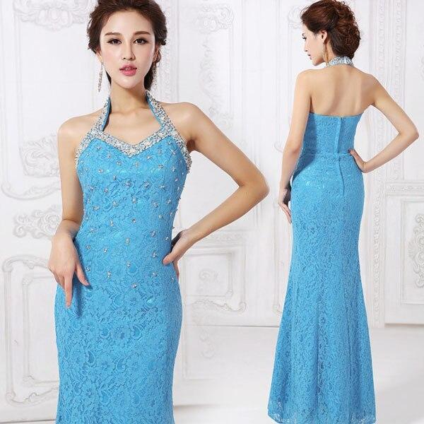 Elegant Luxury Backless Halter V neck Off Shoulder Ball Gowns Long ...