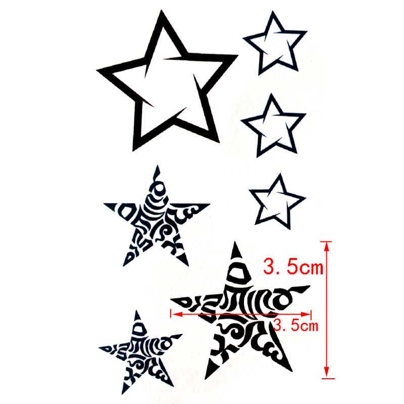 Flash Bintang Tahan Air Temporary Tattoo stiker untuk pria dan wanita glitter tato henna tatouage tatuagem temporaria