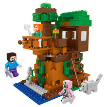 406pcs Tree House Compatibie Legoings minecrafteds Building Blocks Toy Kits DIY figures Bricks Educational Toys for children(China)