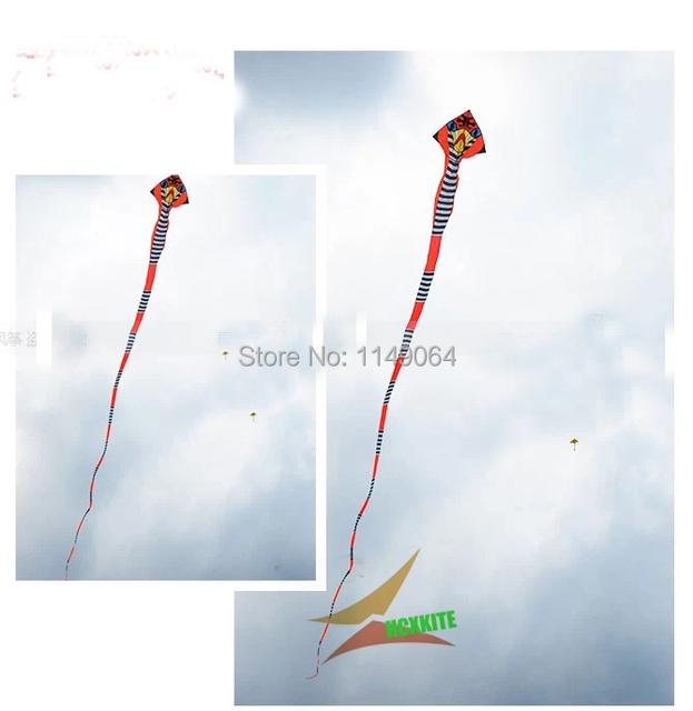 Envío de la alta calidad 40 m gran cometa weifang kite serpiente con la línea de mango ripstop tela de nylon al aire libre juguetes de kitesurf volant