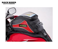 Free Shipping 2017 Rock Biker Black Red Motorcycle Magnetic Tank Bag Gear Back Pack Cruiser Sport