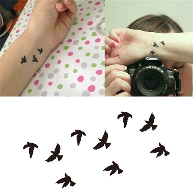 1 Piezas Mujeres Dedo Muñeca Falso Tatuaje Pegatinas Libertad