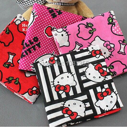 34720dd19 Ladies Cartoon Hankerchiefs 100% Cotton Hello Kitty Handkerchiefs Vintage  Hankies 42*42cm Pocket Square Scarfs