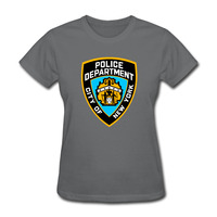 Harajuku New York Jeans NYPD Est 1985 T Shirts Women 2017 Hipster Kawaii Women Tee Shirt