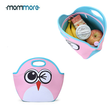 Mommore Cute Kids Handbag Cartoon Lunch Tote for Boys and Girls Machine Washable Bags Food