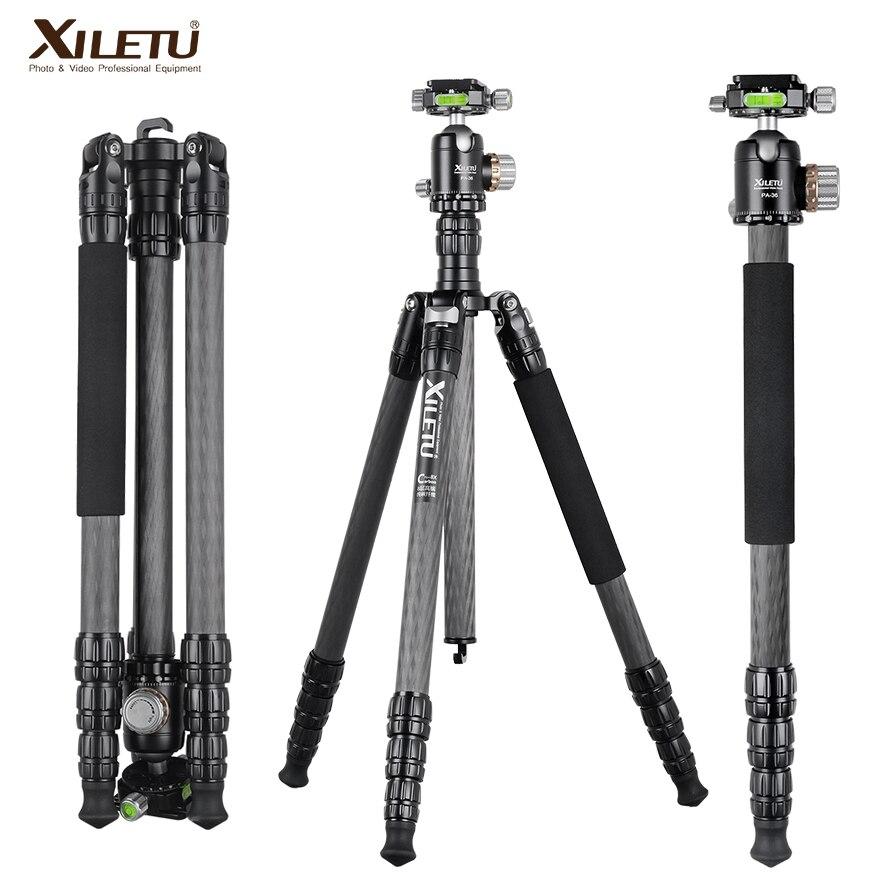 Portable Carbon Fiber Photography PTZ Holder,SLR Camera Micro Single Tripod,Spirit Level,Adjustable Panoramic Shooting Tripod