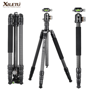 XILETU PA-2C36 Professional Heavy Duty Carbon Fiber Camera Tripod Stand for DSLR Digital with Double Panorama Ball Head
