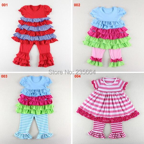 e40932e4f 2015 الربيع الصيف طفلة قصيرة الأكمام اللباس أعلى + تكدرت السراويل 2 قطع  مجموعة ملابس الأطفال مجموعة بنات وتتسابق بدلة طفل الربيع