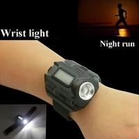 Outdoor light flashlight wrist light night riding fishing light watch function charging wrist wearing light hiking night run