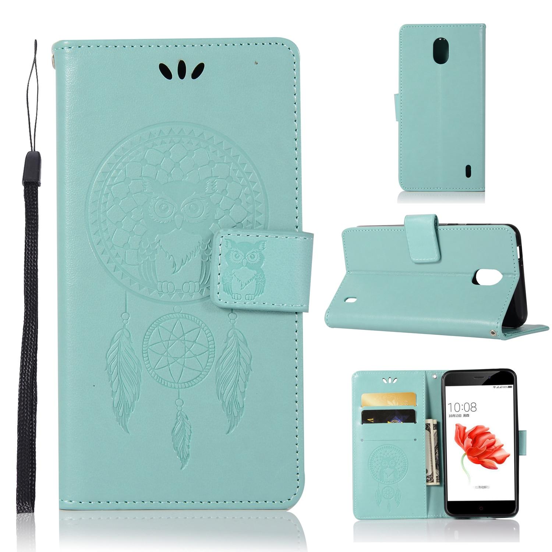 Owl embossed Wallet Case For Nokia N2/N6 2018/N7/N7 PLUS/N9
