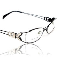 Butterfly Alloy Elegant Women Glasses Frame Female Vintage Optical Glasses Plain Eye Box Eyeglasses Frames Myopia