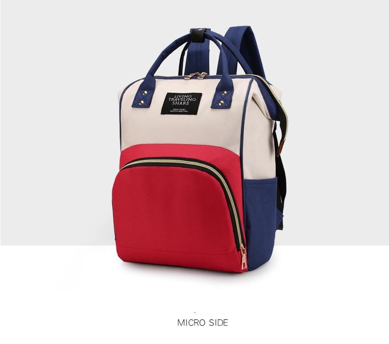 HTB1CYC9XA9E3KVjSZFGq6A19XXab Multi-Function Mummy Maternity Nappy Bag Fashion Patchwork Large Capacity Baby Bag Travel Backpack Nursing Bag for Mom Designer