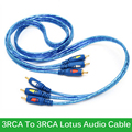 High Speed Audio Video AV Cable 3 RCA Male to 3RCA Male Composite 3X RCA Audio Line for PC CD Player TV Wholesale