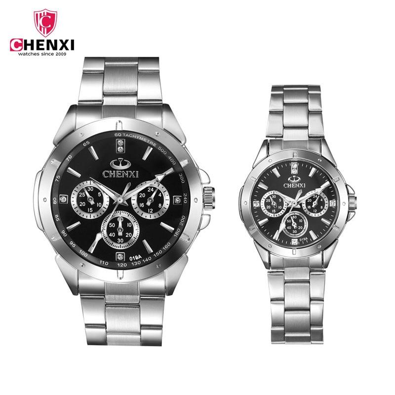 CHENXI Brand Fashion Classic Hot Couple Lovers Quartz Wristwatch Delicate Luxury
