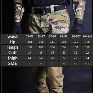 Image 4 - Mega erkekler Jogger taktik pantolon kamuflaj askeri kargo Sweatpants gevşek Camo günlük pantolon Joggers pantalones tacticos XXXL