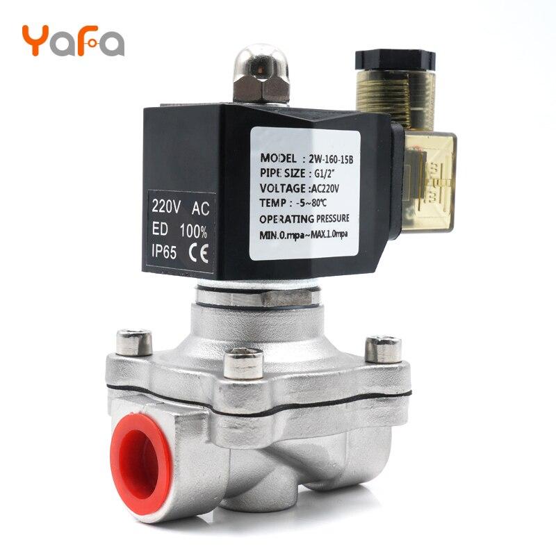 AC110V 220V 380V 24V DC12V 24V ,Normally Closed, Solenoid Valve, 304 Stainless Steel, Water Valves,Moisture Proof  Diaphragm