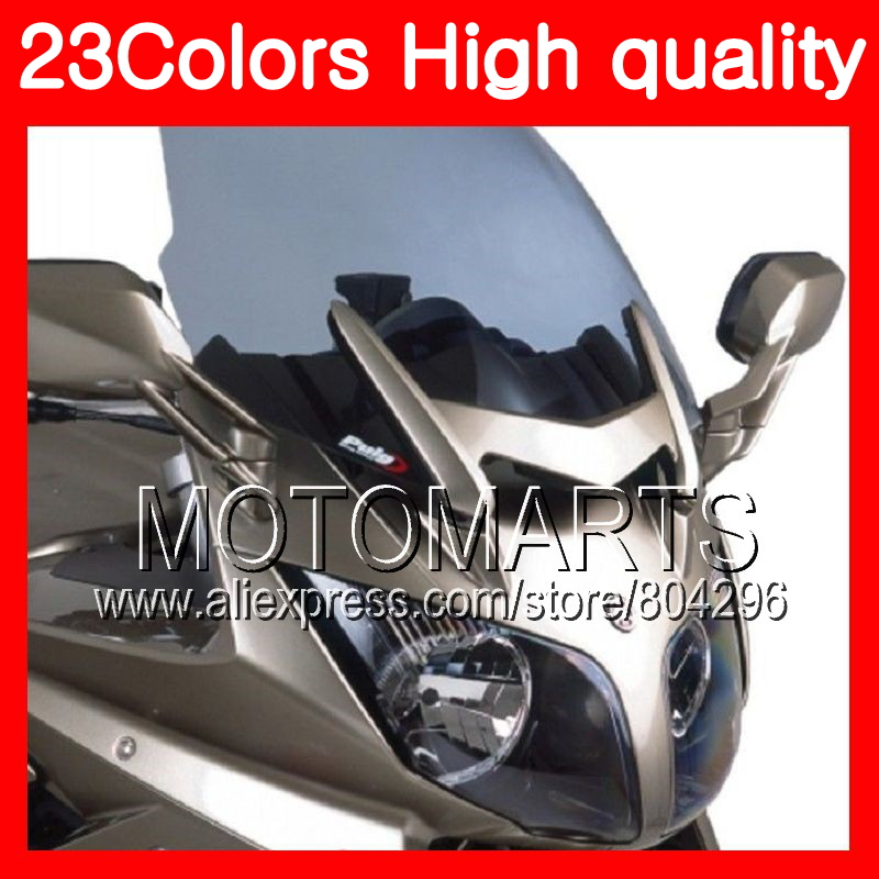 23Colors Windscreen For YAMAHA FJR1300 01 02 03 04 05 2005 FJR 1300 2001 2002 2003 2004 2005 Chrome Black Clear Smoke Windshield mfs motor motorcycle part front rear brake discs rotor for yamaha yzf r6 2003 2004 2005 yzfr6 03 04 05 gold