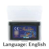 32 Bit Video Game Cartridge ALADDIN Console Card EU Version English Language Support Drop shipping