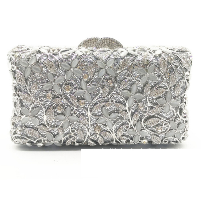 XIYUAN BRAND gold silver evening clutch bag elegant ladies party clutch bags  full crystal Luxury evening bags wedding bride bag 85e627e8d916