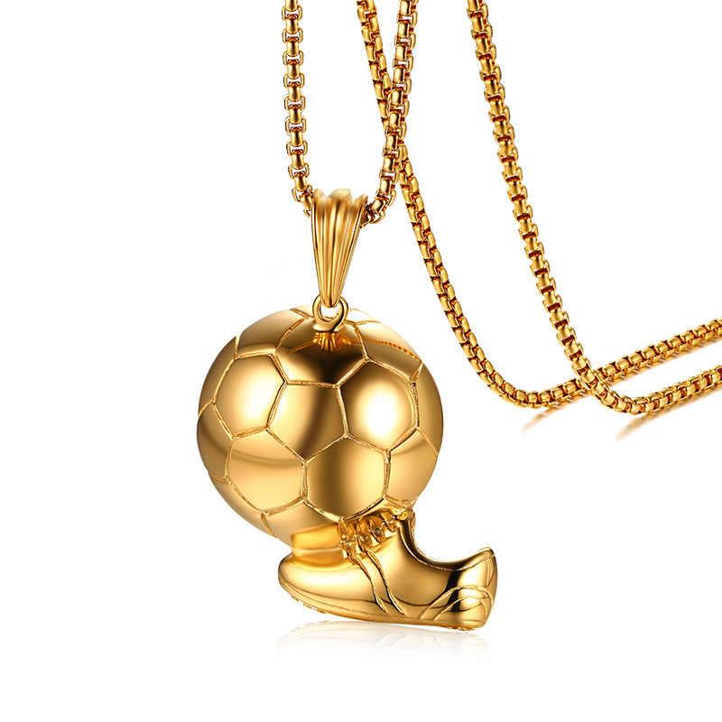 2018 Novo Design do Futebol Tênis Encantos Pingente Jóias Da Cor do Ouro Colares Pingentes de Moda Masculina