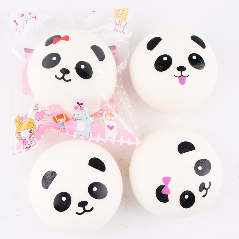 Retail Package 10cm Simulation PU Panda steamed Bread Education Toys Stress Reliever Toy Kid Cute Antistress Toys Funny Gift #CS