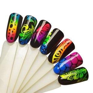 Image 2 - Polvo de pigmento de neón para uñas, 1 caja de pigmento fluorescente, purpurina brillante para invierno, decoración artística de uñas DIY, CHYE01 13 1 DE MANICURA