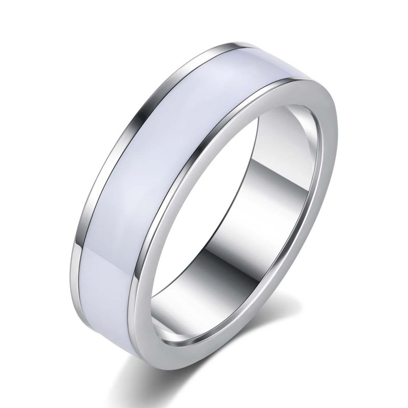 LIVVY 2016 new stainless steel ring double ring titanium plated men frosted wedding jewelry Maam ring
