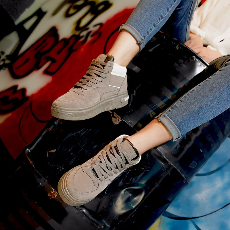 Casual Women Shoes Lace Up Breathable Platform High Top Casual Shoes KUYUPP 2016 Spring Autumn Fashion Lace Up Skate Shoes YD158 (37)