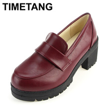 2016 NEW Thick with round head Students shoes Japanese school uniforms Japanese institute style COS joker universal