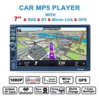 RK 7156G 2Din 7inch Bluetooth Car Radio FM/AM/RDS Radio GPS Navigation Car Multimedia Player Mobile Phone Function Car MP5