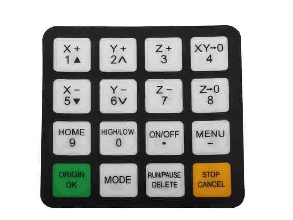 CNC routeur DSP 0501 panneau de contrôle de la poignée + bouton, panneau de commande DSP et bouton et connecteur, version anglaise