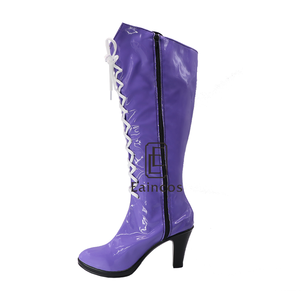 Anime Sailor Moon Sailor Saturn Cosplay Party Shoes Purple Fancy Boots Customized Size