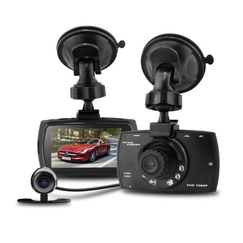 imágenes para 170 grados Lente Dual G30 Hd1080p 2.7 LCD Dash g-sensor Cam Registrador Del Coche DVR coche Cámara Veicular Kamera dos cámaras Logger