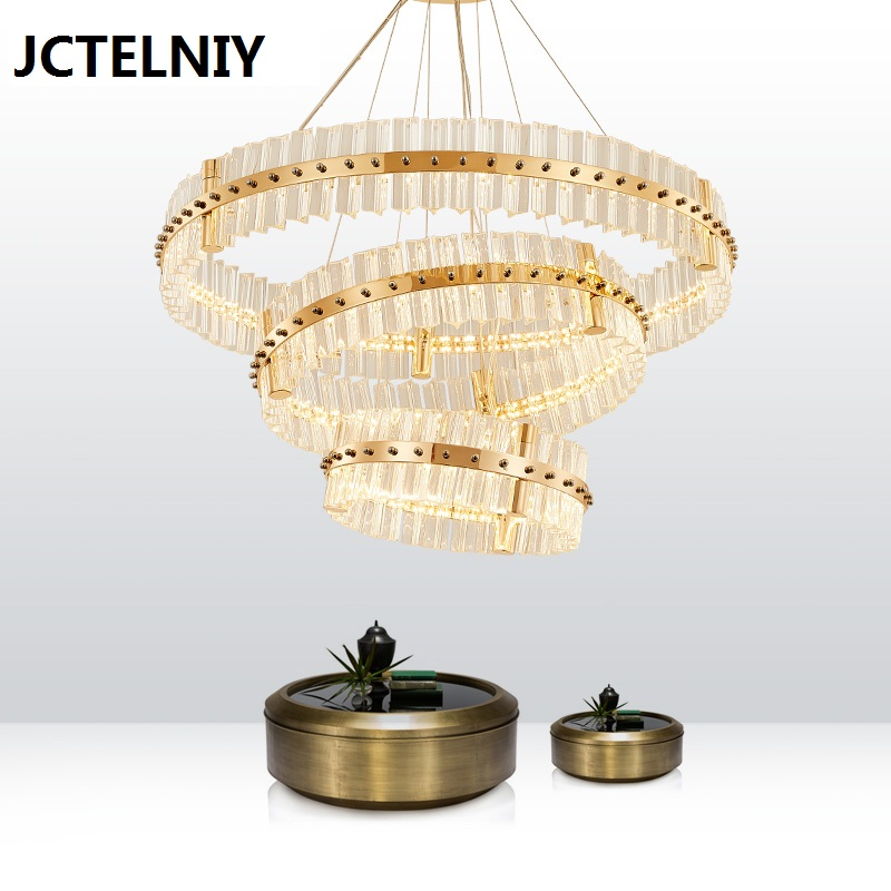 Modern Crystal Chandelier Simple Project Villa Club American New Classical Creative Living Room Restaurant Duplex Chandelier