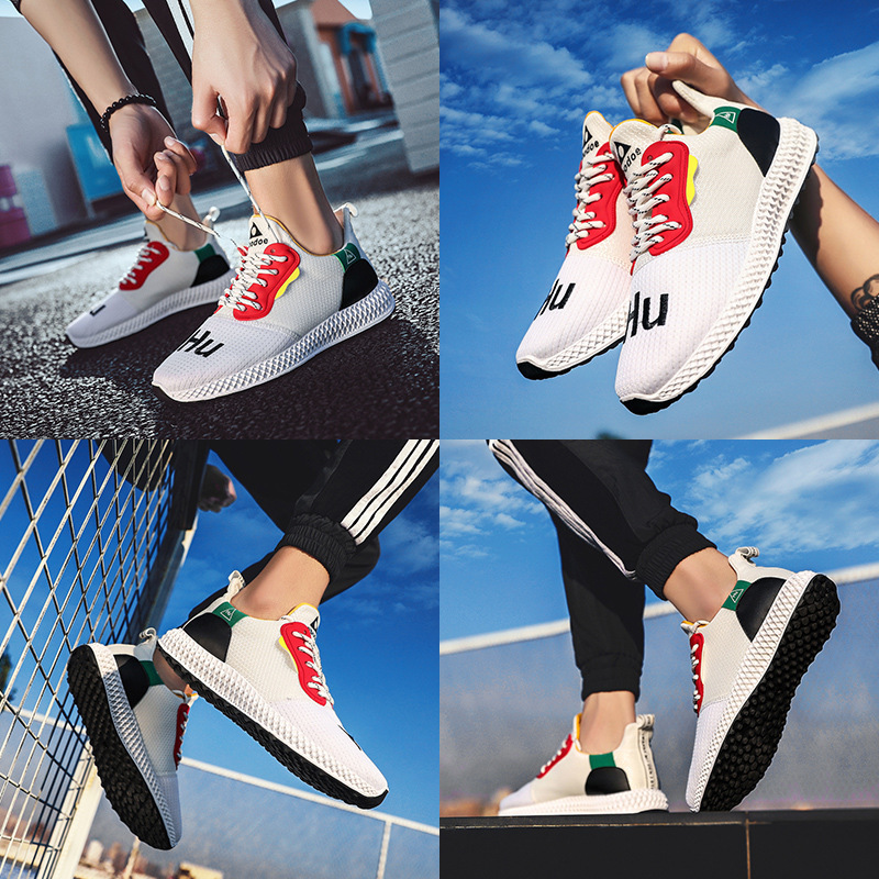 2019 spring and summer new ins fashion casual sports breathable mesh men 39 s 4D tide shoes in Men 39 s Casual Shoes from Shoes