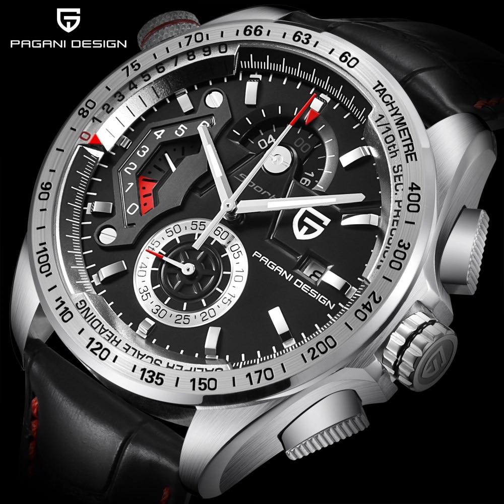 2018 PAGANI CONCEPTION Marque De Luxe Sport Montres Hommes Étanche En Cuir Quartz Montre Horloge Relogio Masculino Zegarek Damski Saat