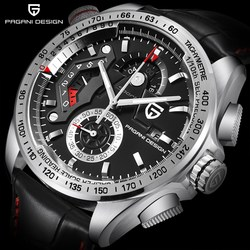 2018 PAGANI DESIGN Luxury Brand Sport Watches Men Waterproof Leather Quartz Watch Clock Relogio Masculino Zegarek Damski Saat