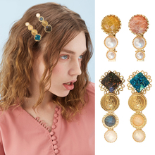 New Fashion Women Hair Clips Gorgeous Pearl Trendy Metal Accessories Barrette