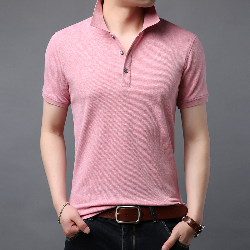 2020 New Fashion Brand Designer Polo Shirt Men Solid Color Summer Short SleeveSlim Fit Top Grade Poloshirt Casual Mens Clothing