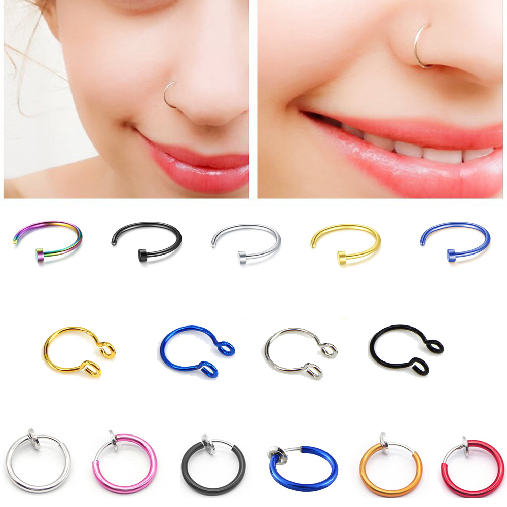 Fake Septum Medical Titanium Nose Ring Silver Gold Body Clip Hoop For Women Septum Piercing Clip Jewelry Gift 1pc Buy At The Price Of 0 19 In Aliexpress Com