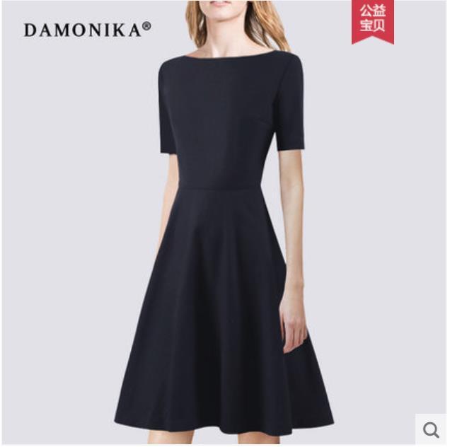 Europe station 2018 printemps été robe à la mode européenne et américaine haut de gamme tempérament robe été long OL slim a-ligne