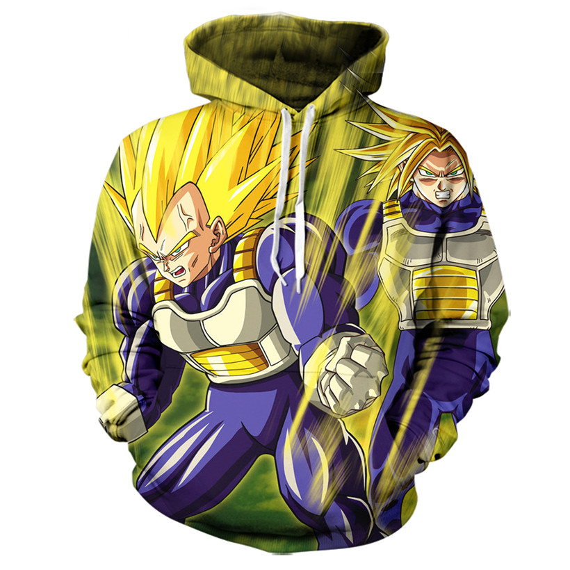 2 Styles Real American size vegeta 3D Sublimation Print OEM Hoody/Hoodie Custom made Clothing plus size