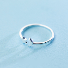 Star and Moon 925 Sterling Silver Ring