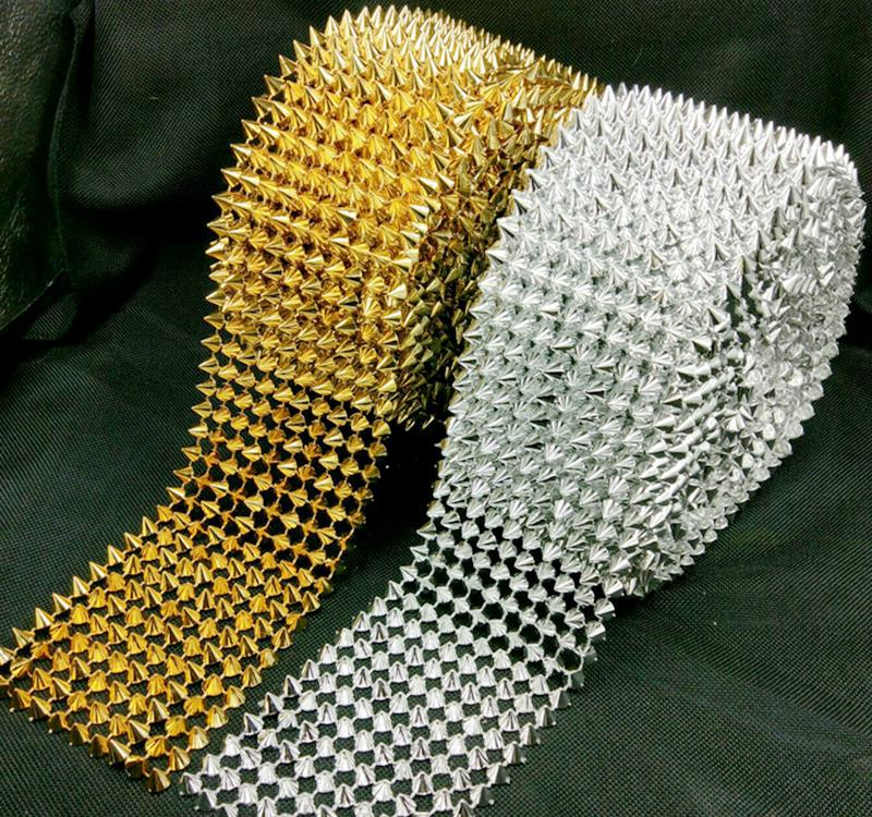 Spike Mesh Tape Rivet Stud Rhinestone For Bag, Hat, Shoe,clothes,leather,decoration Diy Craft Accessories