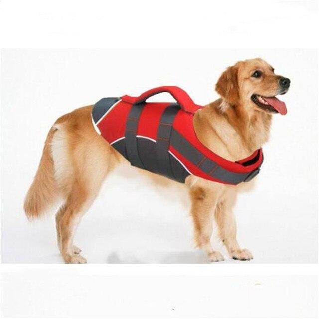 Hjkl Pet Large Dog Life Jacket Clothes Labrador Golden Retriever Dog