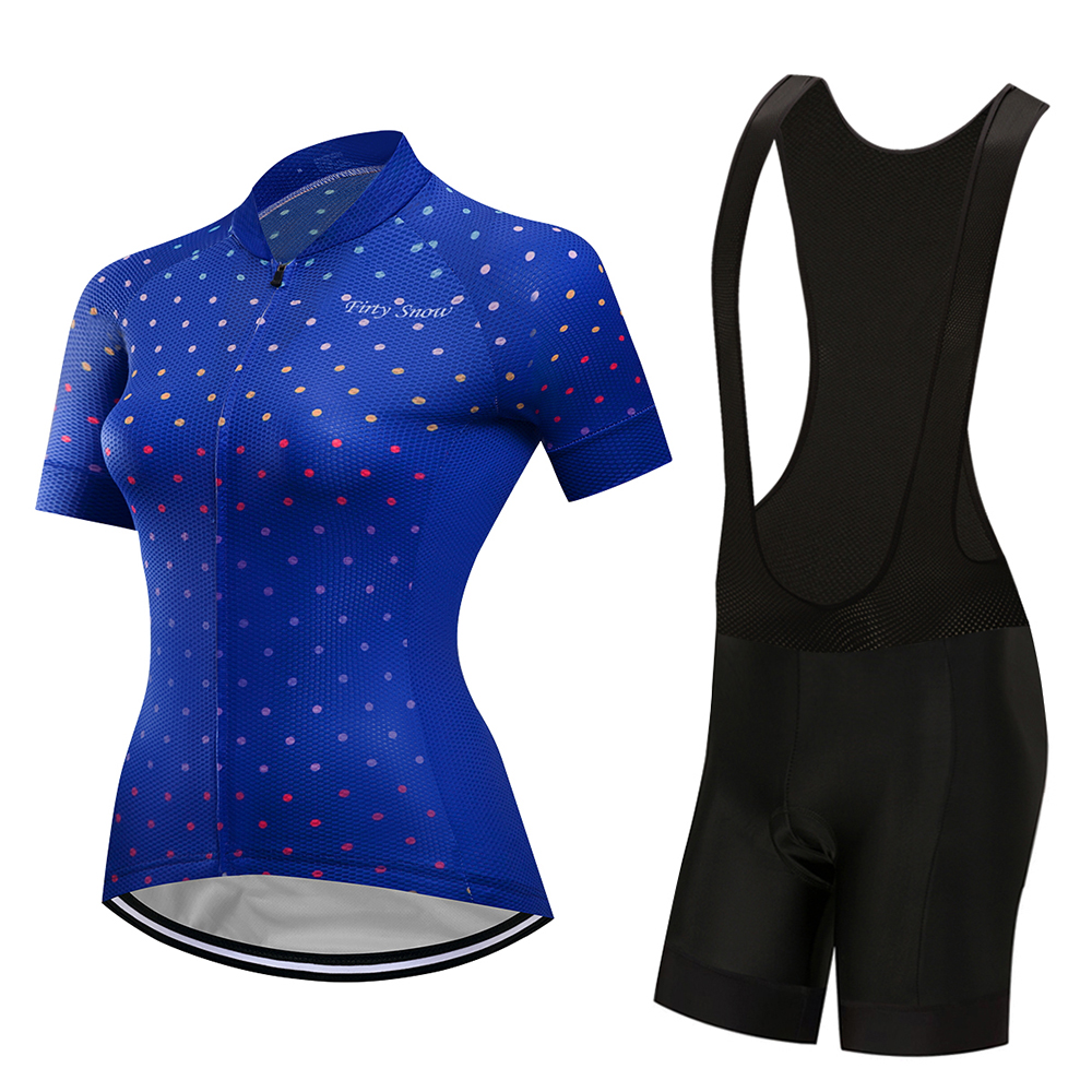 Firty Snow 2018 Womens Cycling Jersey Road Bike Quick Dry Cycling Clothing Jersey Sets Breathable Mountain Bike Clothing
