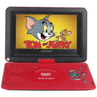 10 Portable DVD Player With 270 Rotating Swivel LCD Built In Rechargable Battery Game Player Support
