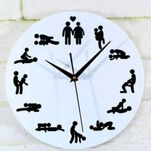 Novelty Design 1PC Pornographic Personality Sex Wall Clock Sex Position Clock Novelty Wall Clock Home Decoration