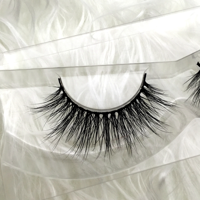Free shipping premium D006 100% real siberian mink strip eyelashes 3D mink lashes miami lashes